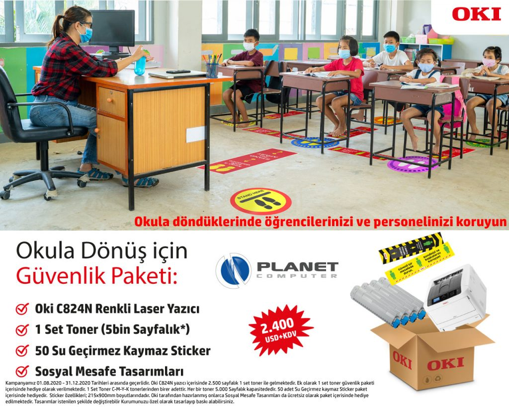 Oki Okula Dönüş Kampanyası Sticker Yazıcı
